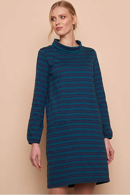 Heavy Slub Dress    pine stripes