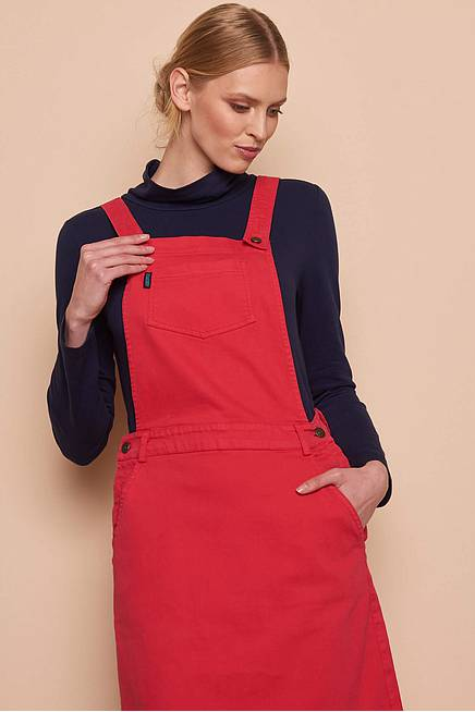 Jeans Dress     red
