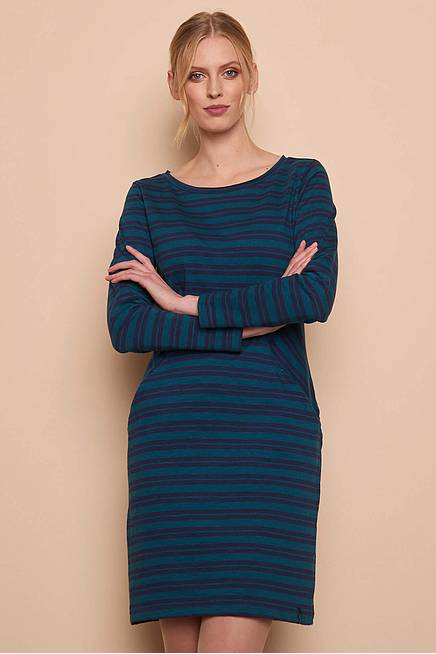 Heavy Slub Kleid ALBA pine stripes