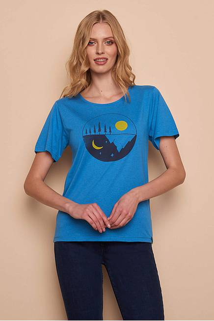 Viskose Shirt blue moon