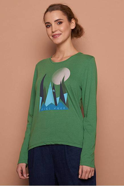 Viskose Shirt green mountain