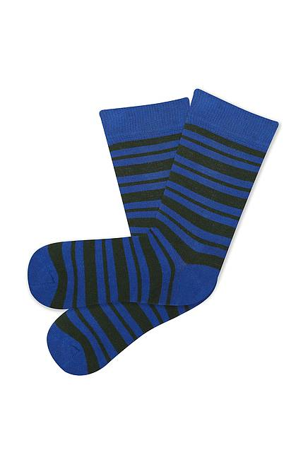 Socken STRIPES electric blue