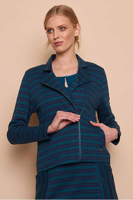 Heavy Slub Jacket    pine stripes
