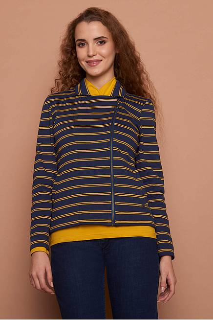 Heavy Slub Jacket    navy stripes