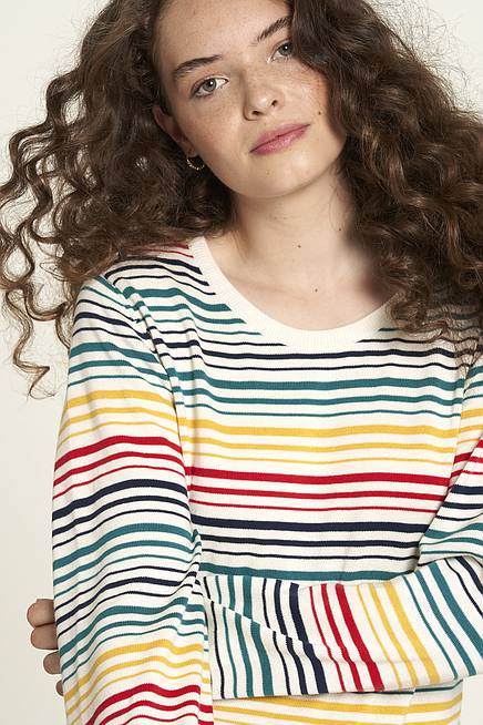 Knitted Top  coloured stripes