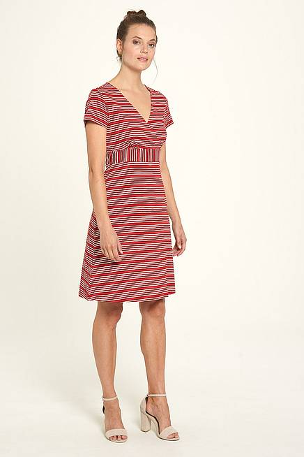 Jersey Dress henna stripes