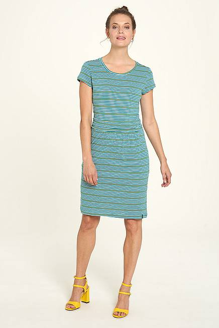 Jersey Dress pool stripes