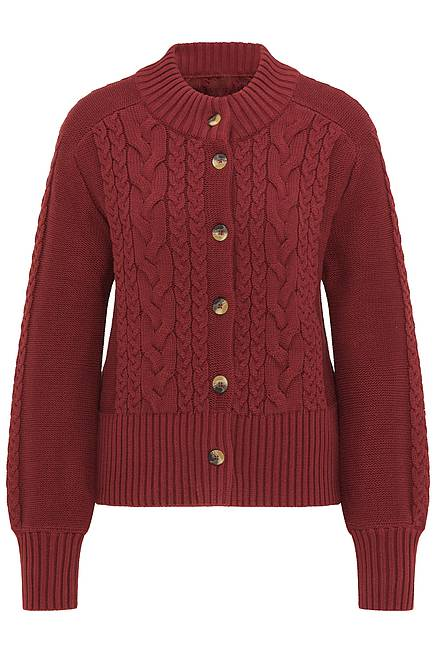 Strickjacke     dark red