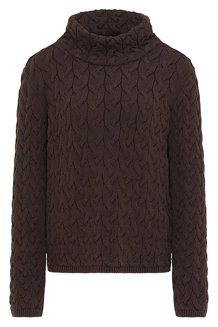 Knitted Sweater     chocolate