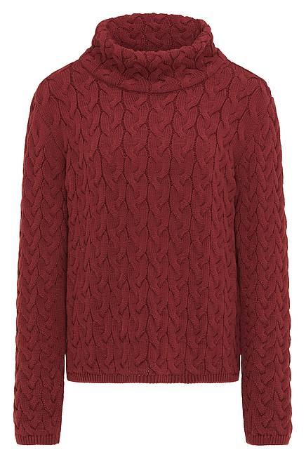 Knitted Sweater     dark red